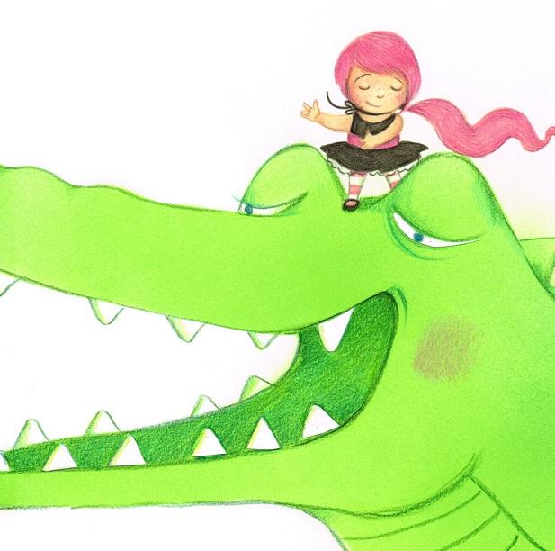 לצייר ילדה שהיא תנין