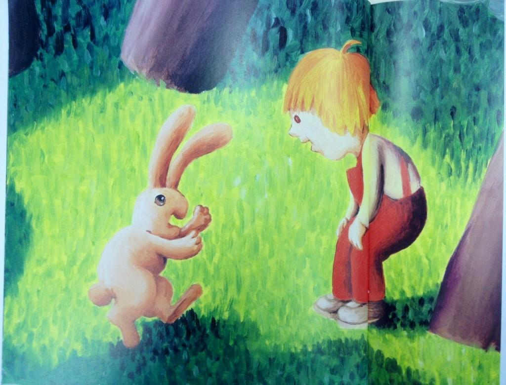 """מתוך: """"איתמר פוגש ארנב"""". איור: אורה איל"""