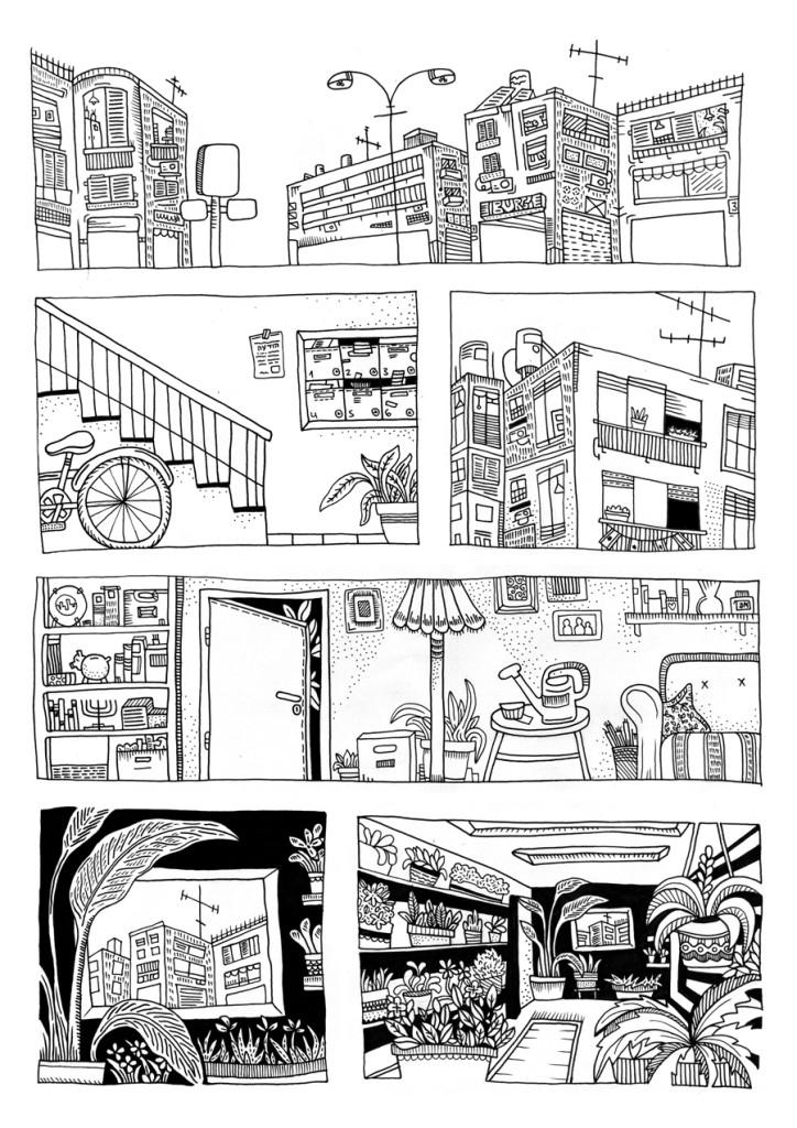 תרגיל מקורס מבוא לקומיקס עם אסף חנוכה - שנה ב'