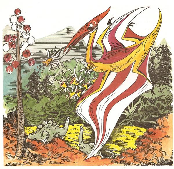 זה הפְּטֶרָנוֹדוֹן, מתוך מי מכיר את דינו (1981), פרס למדן לספרות ילדים 1982. כמו הגיבור הדינוזאור, כל יוצר רוצה להשאיר טביעת אצבע בהיסטוריה.