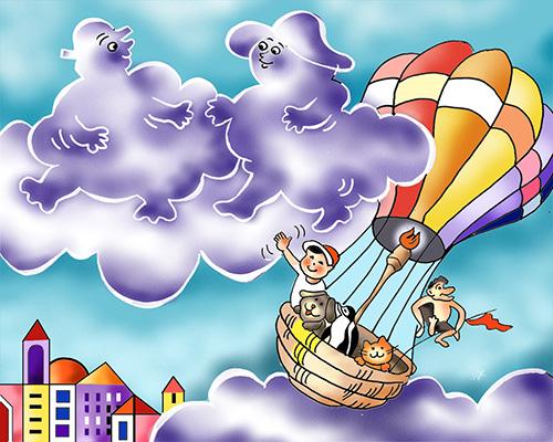 """מתוך סרטון לשיר """"ענן ועננת"""""""