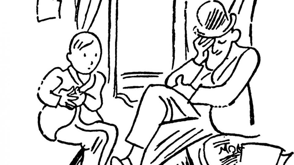 איור מתוך אמיל והבלשים: וולטר טריר