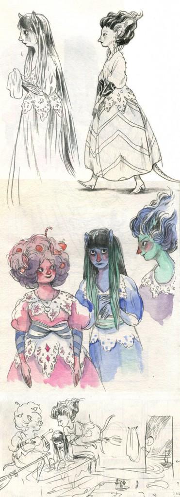 סקיצות לשלוש מכשפות