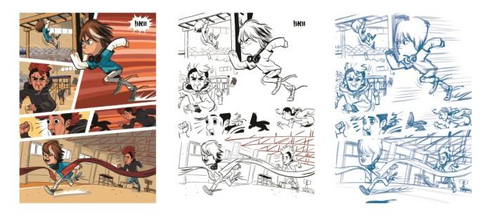 תהליך עבודה על עמוד קומיקס