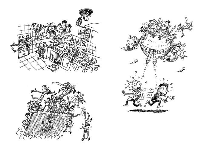 איור של טרי דנטון מתוך הספר