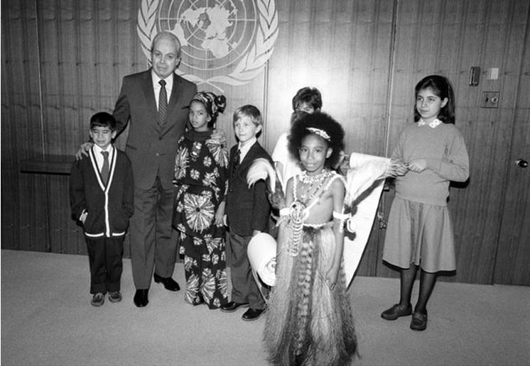 """מזכ""""ל האו""""ם עם אורחים, 20 לנובמבר 1989"""