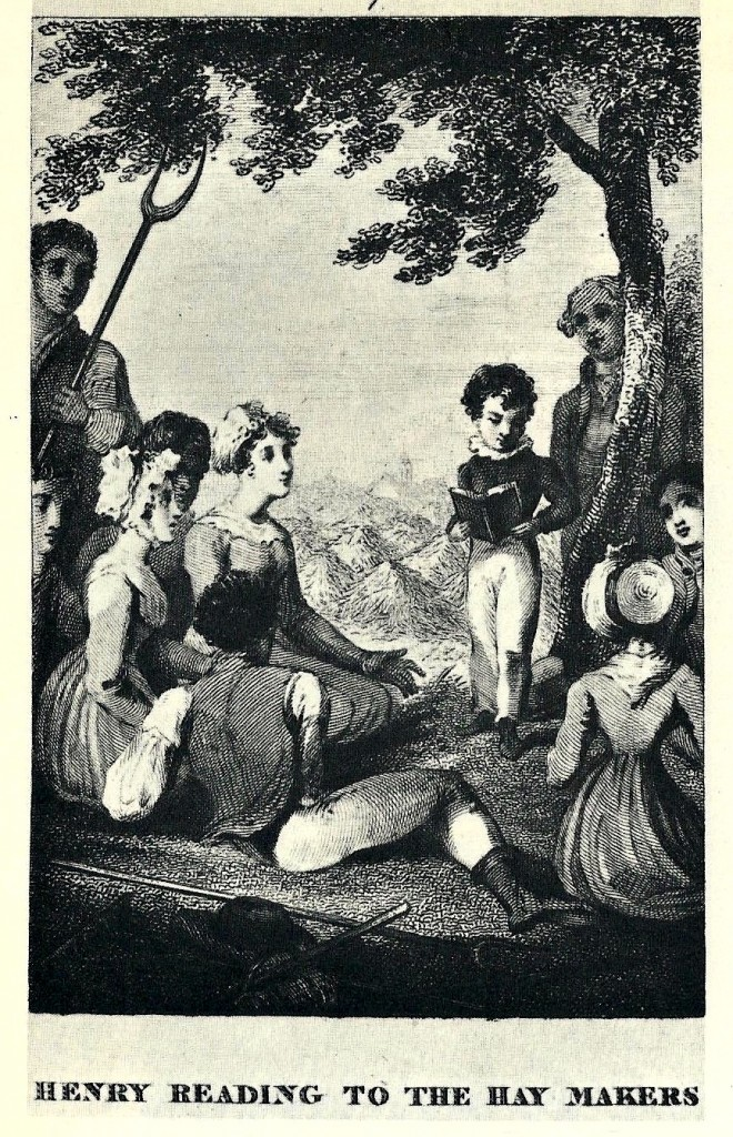 Henry Reading to the Hay Makers (The History of Henry Milner by Mrs. Sherwood, 1823-37)
