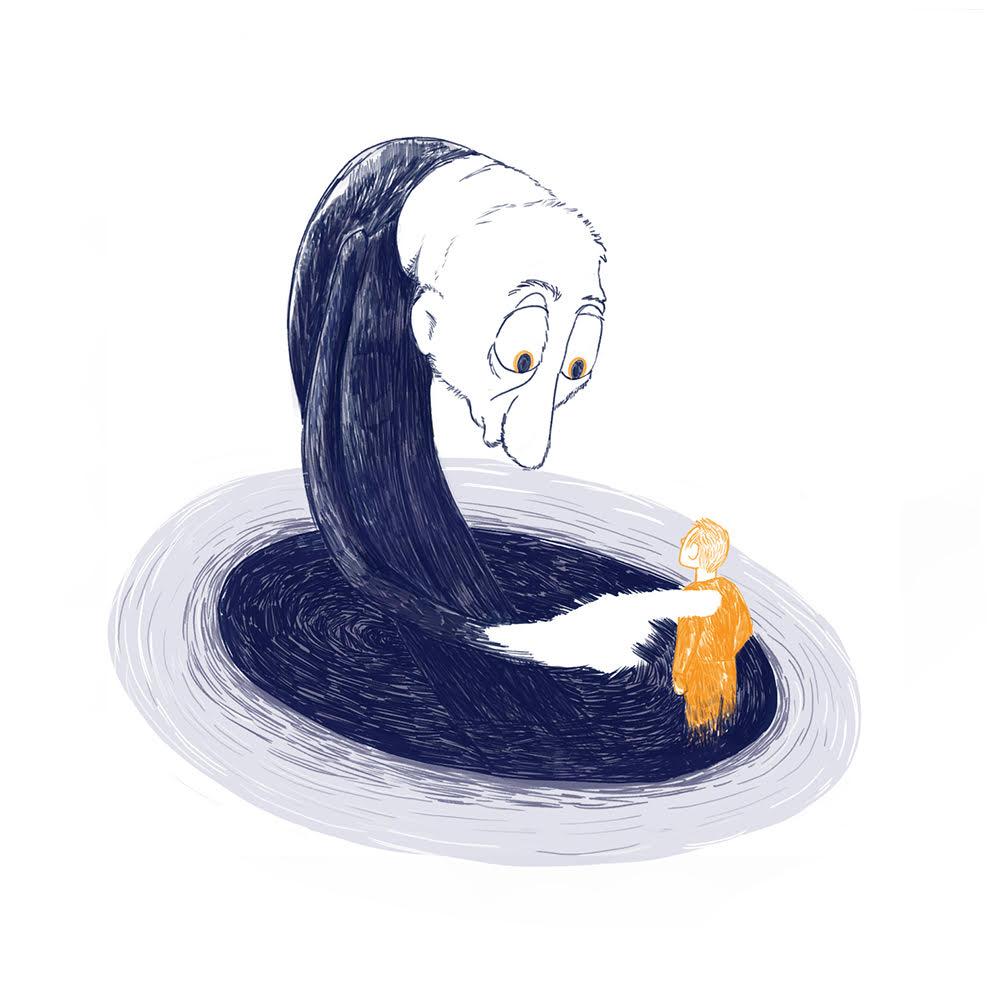 """תערוכה מקוונת - פרשנויות איוריות לשירו של נתן זך """"חוני המעגל"""""""